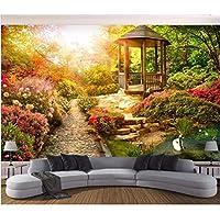 Wuyyii 3D壁紙カスタム写真壁画サンシャインガーデン風景の背景部屋の装飾絵画3D壁壁画壁紙用壁3 D