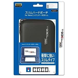 【New 3DS LL対応】スリムハードポーチ for NEW ニンテンドー3DS LL ブラック