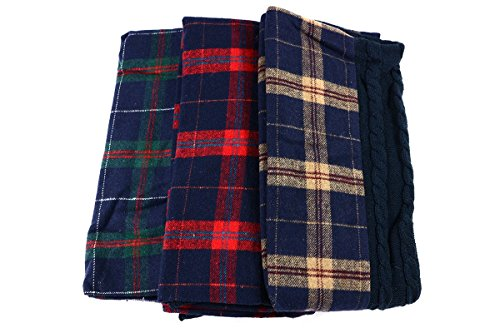 This if adult cute decide! Ladies Girls fashionable items muffler scarf tartan reversible cable knit red green beige reversible combination cable pattern snood
