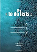 "My ""To do lists"" - notebook tasks to do: To do list 