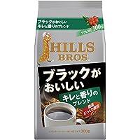 ヒルス コーヒー 豆(粉) ブラックがおいしいブレンド 300g