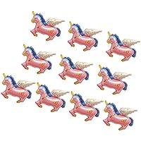 Homyl 10個 ペガサス バルーン 風船 ミニユニコーンバルーン 結婚式/記念日/誕生日/パーティー 飾り プレゼント 2色選べ - ピンク