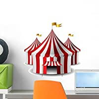 Circus Tent Wall Decal by Wallmonkeys Peel and Stick Graphic (18 in H x 18 in W) WM108155 [並行輸入品]