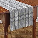 Park Designs テーブルランナー (ハートウィック、グレー、チャコール、ベージュ格子柄) 13インチ x 54インチ