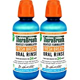 TheraBreath Dentist Formulated Fresh Breath Oral Rinse - ICY Mint Flavor 16 Ounce (Pack of 2)