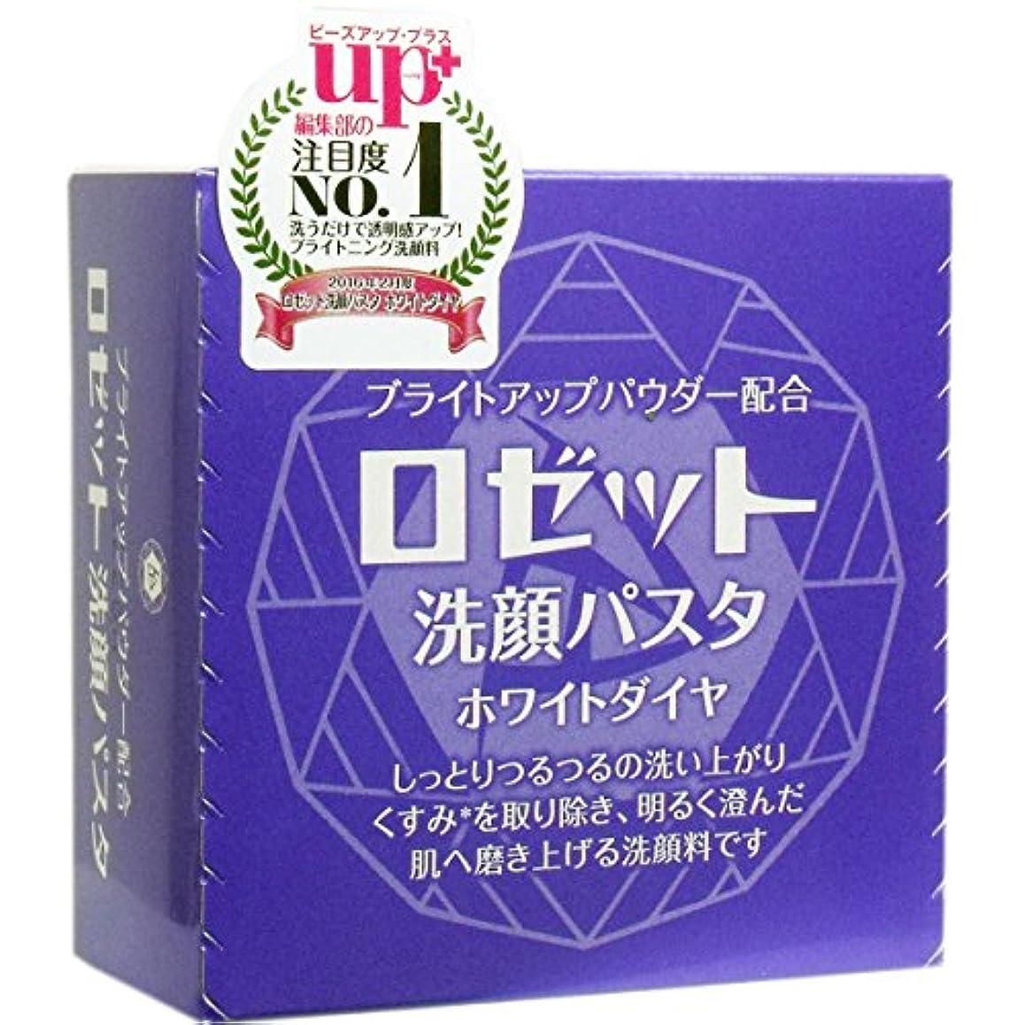 美容師自然変化ロゼット洗顔パスタ ホワイトダイヤ × 10個セット