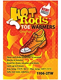 Stay Warm - Hot Rods Toe Warmers - Warms up Faster, Stays Warmer Longer - 5 Pairs by Haynesville