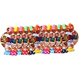 Amosfun 12Pcs Halloween Blowouts Party Noisemaker Sound Making Toy for Gathering Birthday