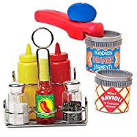 Melissa & Doug ? Let's Play House! ? Condiment Set and Can Opener with Cans [並行輸入品]