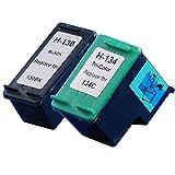 ヒューレットパッカード用 HP130(C8767HJ)+ HP134(C9363HJ) ブラック+カラー 【再生インクカートリッジ】 リサイクル  対応機種:Deskjet 460c / Deskjet 460cb / Deskjet 5740 / Deskjet 6840 / Deskjet D4160 / Officejet 100 Mobile / Officejet 6210 / Officejet 7210 / Officejet 7410 / Officejet H470 / Photosmart 325 / Photosmart 335 / Photosmart 385 / Photosmart 475 / Photosmart 8753 / Photosmart 2575 / Photosmart 2575a / Photosmart 2610 / Photosmart 2710 / Photosmart D5160 / PSC 1610 / PSC 2355 /「JAN:4582480213393」インクのチップスオリジナル