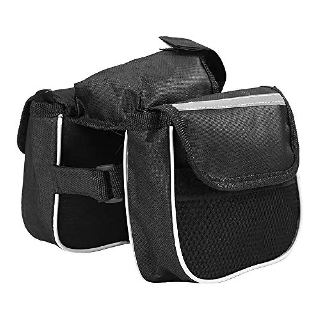 ライラック眠りラベンダーk-outdoor 自転車バッグ 防水 フロントチューブバッグ フレームバッグ