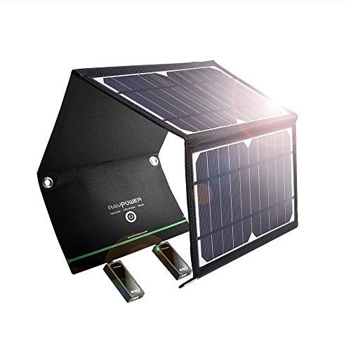 ソーラー充電器 RAVPower 超軽量 16W 2ポート ...
