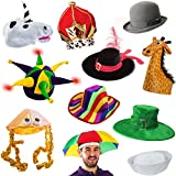 Costume Hats for Adults- 6 Assorted Dress Up Hats by Funny Party Hats