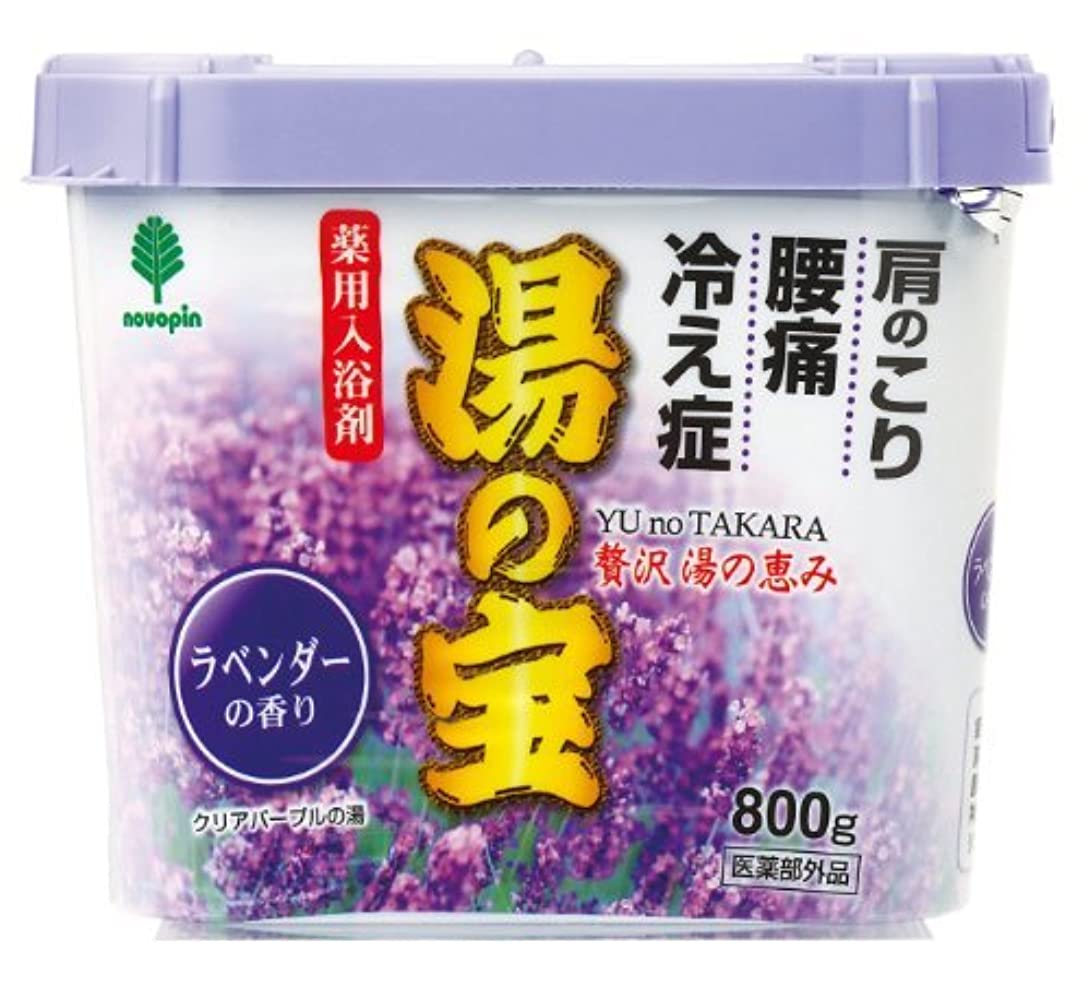 トチの実の木幸福にはまって紀陽除虫菊 湯の宝 ラベンダーの香り 800g【まとめ買い16個セット】 N-0057
