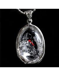 希少 水入り水晶 Water In Crystal ペンダントトップ〔 天然石 パワーストーン アクセサリー 〕