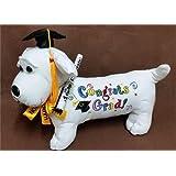 Graduation Autograph Stuffed Dog w/Pen Congrats Grad! (Black) 12