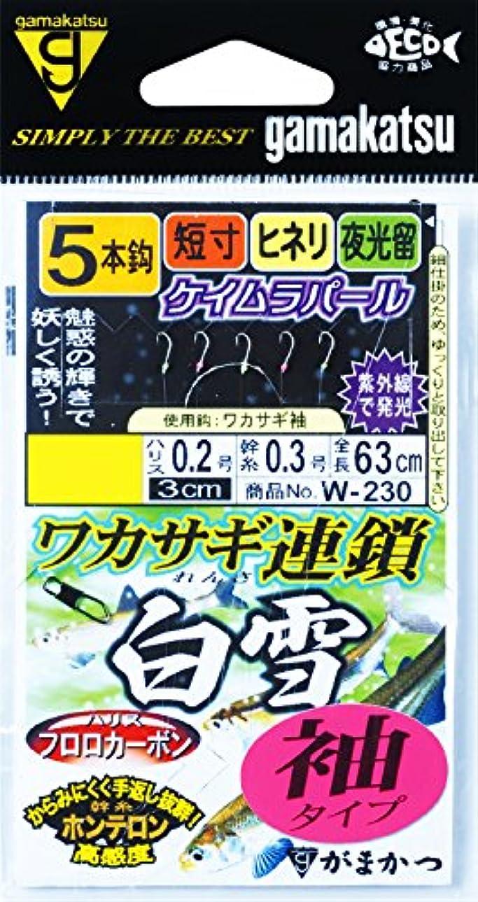 大邸宅上流の手数料がまかつ(Gamakatsu) ワカサギ連鎖 白雪 袖 5本 W230 2.5-0.3.