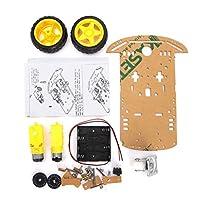 WINGONEER スマートモーターロボット車用バッテリーボックスシャシーキットArduino用スピードエンコーダー
