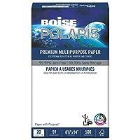 Boiseポラリスプレミアム多目的紙、81/ 2x 14、20lb、ホワイト、5000/ CT