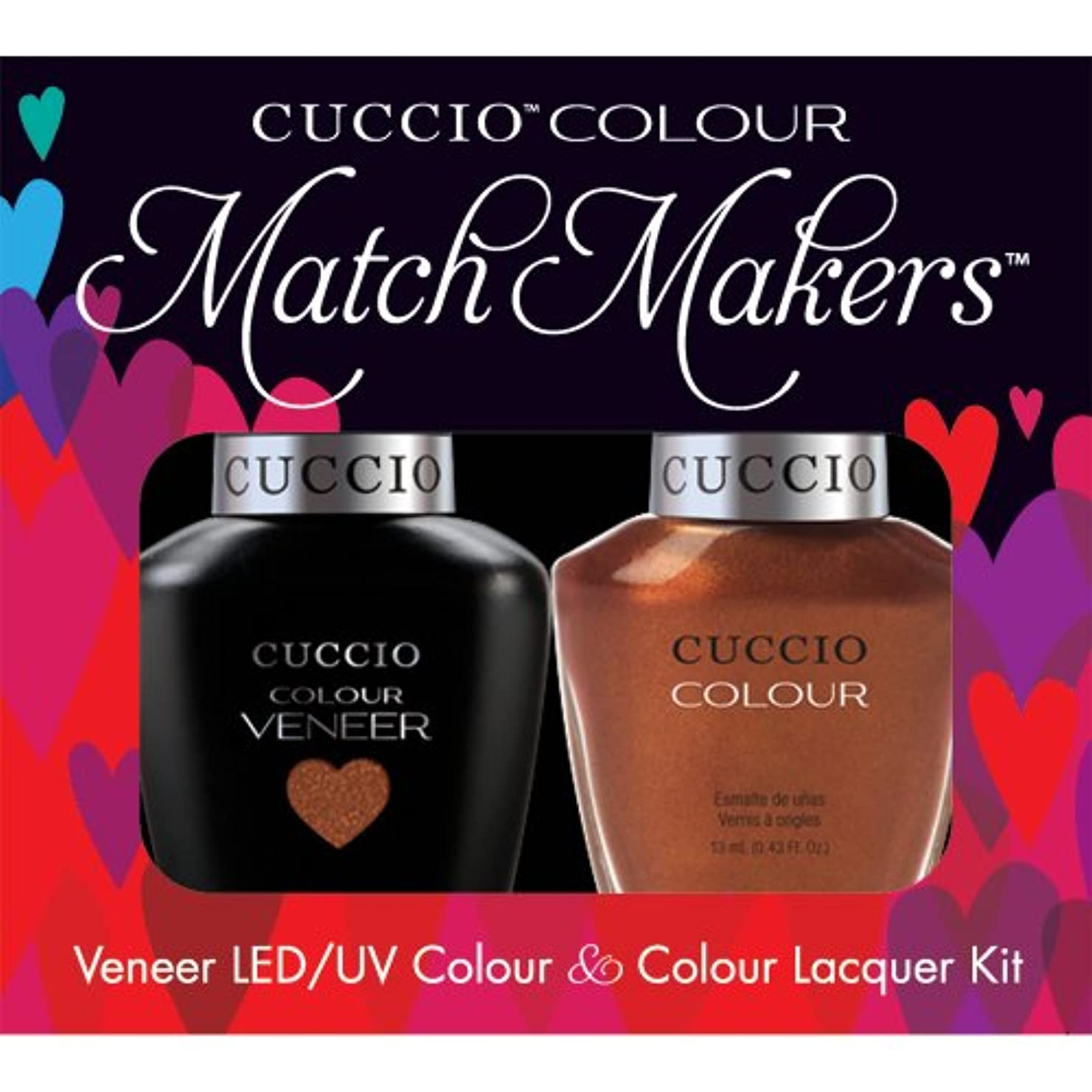 蜂慣れるしばしばCuccio MatchMakers Veneer & Lacquer - Can Never Say Mumbai - 0.43oz / 13ml Each