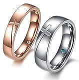 ZAKAKA 指輪 メンズ ステンレス レディース ペアリング セットカップル指輪10号12号 14号 16号 18号 21号 23号を提供する 婚約 ) (メンズ, 18)