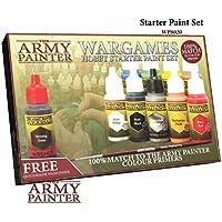 ミニチュアペイントセット、10モデルPaints with Freeハイライトブラシ、18 ml /ボトル、ミニチュアペイントキット、非毒性アクリルペイントセット、Wargames趣味スターターペイントセットby the Army Painter (新しいバージョン)