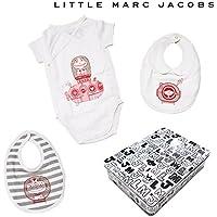 (リトルマークジェイコブス) LITTLE MARC JACOBS Girl's半袖ロンパース&ビブセット レッド系/6M(67cm)