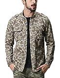 (マッチスティック)Matchstick メンズ ミリタリー 長袖 迷彩 ミリタリーシャツ #G2249(2XL,G2249 アプリコット迷彩)