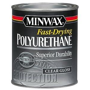 Minwax 230004444Fast Dryingポリウレタングロス、1/ 2パイント