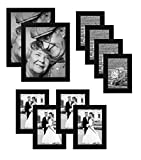 Walmart Black Friday Best Deals - 10ピースマルチパックブラック画像フレーム値セット–セットof 10写真フレーム–2つ8x 10インチ、4つの5x 7インチ、4つ4x 6インチ–ガラスフロント各フレーム–Hangingハードウェア含ま