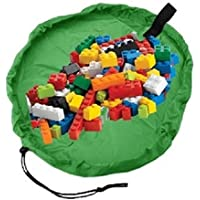 HOPIC おもちゃ 片付け マット 男の子 女の子 レゴ LEGO トミカ かたづけ 収納 袋 ( グリーン )