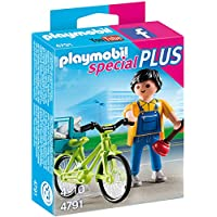 PLAYMOBIL (プレイモービル) Handyman with Bike Building Kit(並行輸入品)