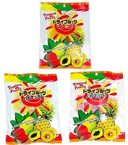 ドライフルーツ 3種セット(マンゴー80g・パイナップル200g・パパイヤ150g) 各1袋 豊物産 食物繊維やミネラル豊富なドライフルーツ ヨーグルトやシリアルに