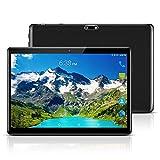 YELLYOUTH 10インチ Android タブレット SIMカードスロット付き ‐ 10.1インチ クアッドコア 4GB RAM 64GB ROM 2.5D曲面ガラス Tablet 3G GSM 通話 タブレット Wifi GPS Bluetooth デュアルカメラ (ブラック) 画像