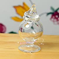 bobominiworld A Glass Jarドールハウスミニチュア装飾1 : 12スケール高さ3 cm
