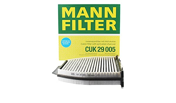 Mercedes Benz W204 C190 C204 R231 C218 MANN Activated Charcoal CABIN AIR FILTER