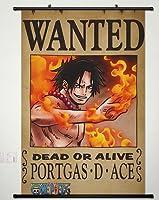 ウォールスクロールポスターファブリックペイントアニメOne Piece Portgas D Ace 308 22x33 Inches