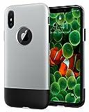 Spigen シュピゲン 10周年限定版 スマホケース iPhone X 対応 耐衝撃 米軍MIL規格取得 Classic One 057CS23345 (アルミニウム・グレー)