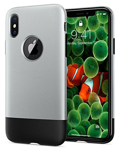 Spigen シュピゲン 限定版 スマホケース iPhone X 対応 耐衝撃 米軍MIL規格取得 Classic One 057CS23345 (アルミニウム・グレー)