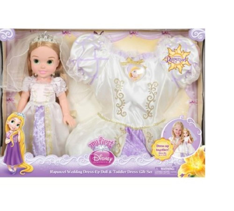 ディズニープリンセスRapunzel Weddingドレスアップ人形& Toddlerドレスギフトセットby Jakks Pacific