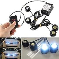 FidgetGear 12W 車 4 LED ハザード 緊急警告 交通 アドバイザー ストロボライトキット