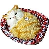 Coerni かわいいぬいぐるみ 猫 ソフトアニマルトイ 人形 ミニシミュレーションキッズ 13*11cm マルチカラー RYK-R678UE