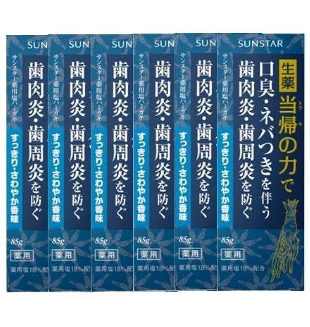 驚きたくさんの軽減薬用ハミガキ 生薬 当帰の力 さわやか香味85g×6個セット