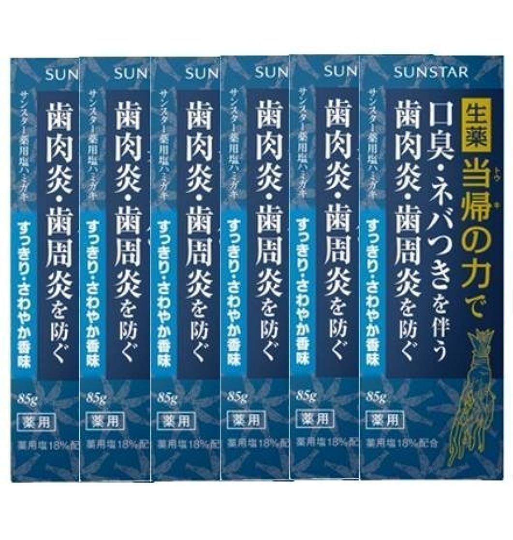 寄託なので抵抗する薬用ハミガキ 生薬 当帰の力 さわやか香味85g×6個セット