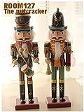 くるみ割り 人形 2体セット(高さ約30cm) ドイツの木のおもちゃ トランぺッター&ドラマー