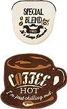 オカトー Cozydoors トイレフタカバー、マットセット 洗浄暖房用 (Hot Coffee)