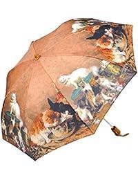 レディース 傘 おしゃれな 名画シリーズ 49cm 折りたたみ傘 キャットファミリー