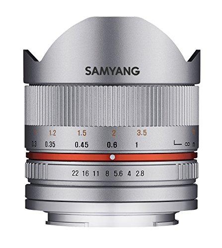 SAMYANG 単焦点魚眼レンズ 8mm F2.8 II シルバー フジフイルム X用 APS-C用