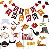 Boao サンクスギビング 不織布バナー 感謝祭 サンクスギビング バナー 20ピース 写真ブース小道具 感謝祭 ホームパーティーの装飾