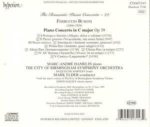 Piano Concerto Op Xxxix